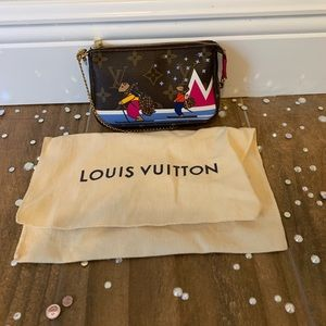 Authentic LOUIS VUITTON Monogram Mini Pochette